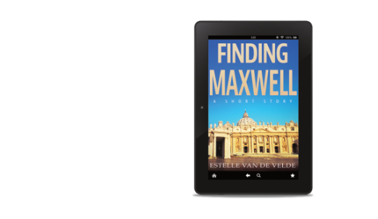 Finding Maxwell ebook cover in an ipad