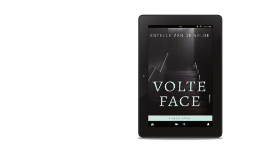 Volte Face ebook cover in an ipad